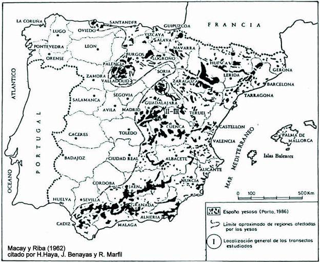 Mapa de Suelos Yesíferos en España